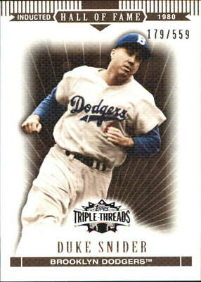 2007 Topps Triple Threads Sepia Brooklyn Dodgers Baseball Card #99 Duke Snider