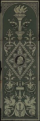 TH347 Extremely Rare Mintons Gothic/Renaissance Patent Morocco Tile Panel c.1880