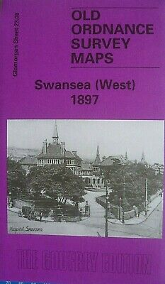 Old Ordnance Survey Maps Swansea West Glamorgan 1897 Godfrey Edition New