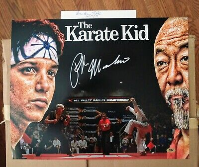 "RALPH MACCHIO ""The KARATE KID"" SIGNED 16X20 MAB HOLOGRAM"