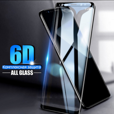 For Samsung Galaxy S8 Plus 6D Curved Tempered Glass LCD Screen Protector Black