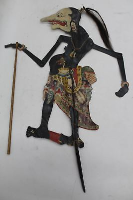 Leather Shadow Puppet Petruk The Javanese Wayang Figures Antique Vintage