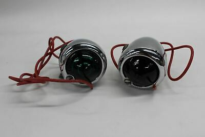 Vintage Pan Flathead Bullet Guide Marker Indicator Lights For Harley Davidson