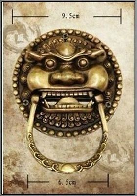 Chinese statue Old Bronze Foo Dog Foo Lion Door Knocker