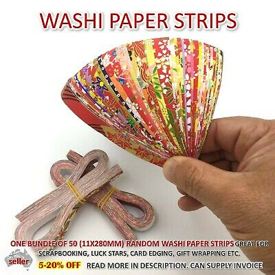 Washi Paper Strips Origami Card making Scrapbooking Lucky Star Japanese Craft
