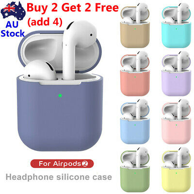 Wireless Earphone Pouch Silicone Sleeve Protective Skin Case Cover For Airpods 2