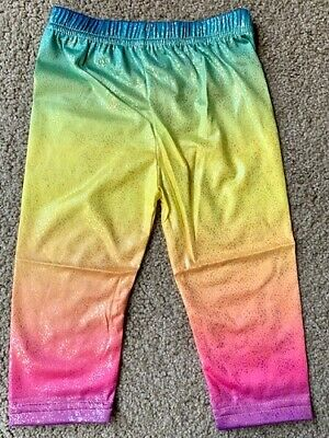 NEW Child's Girls Rainbow Coloured Leggings - Size 1/2
