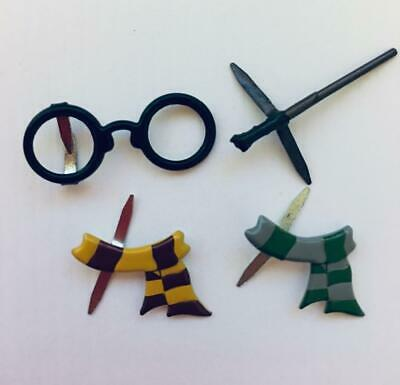 BRADS HARRY POTTER / wizard pk of 4 magic wand split pin craft cards