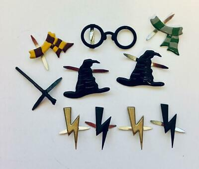 BRADS WIZARD / HARRY POTTER MIX pk of 10 magic witch split pin craft cards