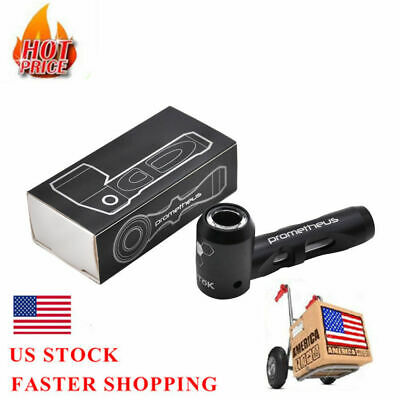 Prometheus Metal Tobacco Smoking Spoon Pipes Glass Bubblers For Dry Herb -Black