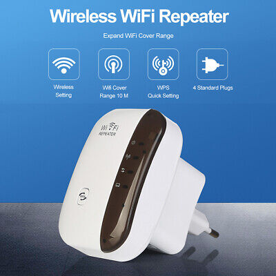 WiFi Repeater Signal Booster Amplifier Range Extender Router Wireless 300Mbps
