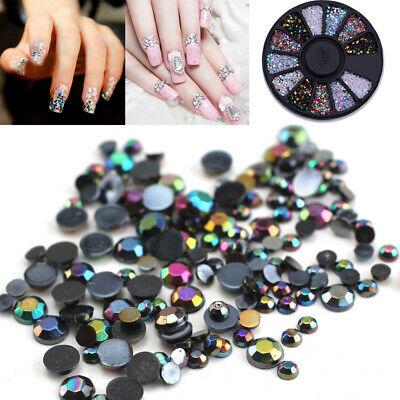 Nail Rhinestones Charms Flatback Mixed Color 3D Nail Art Decoration Wheel Tips