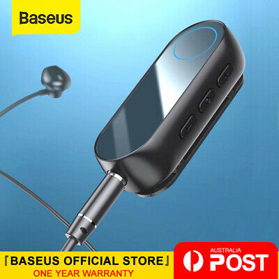 Baseus Bluetooth5.0 Receiver 3.5mm Audio Bluetooth Adapter for Headphone Speaker