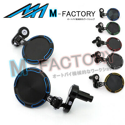 Fit Yamaha XJR 1300 MT07 MT09 Blue Billet Racing Sonic Tinted Bar End Mirrors