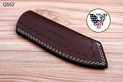 Double Stitch Custom Hand Made Pure Leather Sheath For Fixed Blade Knife - Q 552