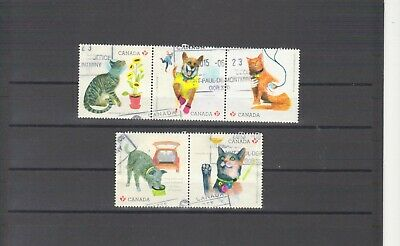 Canada 2015, #2829 Used Love Your Pet-Cat And Dog As Per Scan