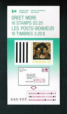 1988  TIMBRES CANADA BOOKLET STAMPS  BK99   # 1225a  CHRISTMAS ICONS  DM18