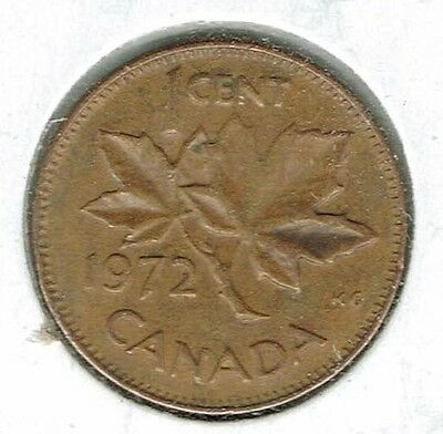 1972 Canadian Circulated One Cent Elizabeth II Coin!