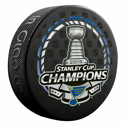 St. Louis Blues 2019 Stanley Cup Champions Hockey Puck Brand New With Case
