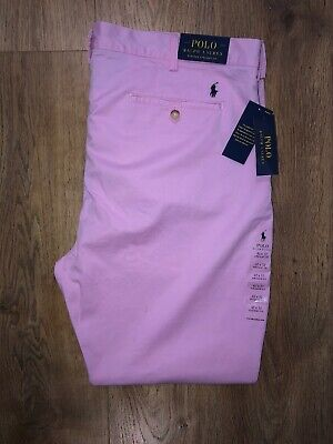 Polo Ralph Lauren Mens Straight Fit Chino Salmon Pink W42 L32 BNWT £125