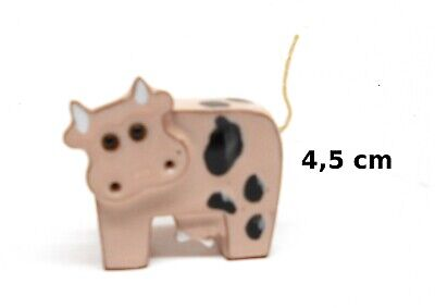 vache ,figurine fait main, miniature en porcelaine de collection, koe, kow, A1-C