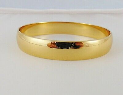 8858e4e7e8a51 VINTAGE MONET GOLD Plated Octagon Bangle Bracelet 7 3/4