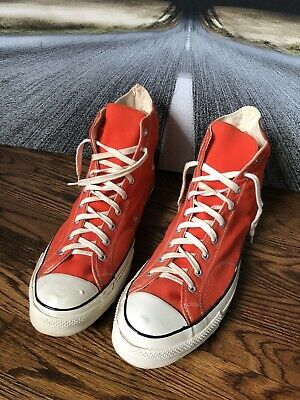 NOS Vintage 70s Chuck Taylor All Star Converse High Top Shoes, Size 17, USA