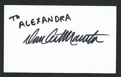 Dan Castellaneta signed autograph auto 3x5 card Voice of Homer Simpson IC418