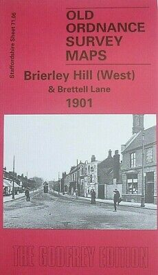 Old Ordnance Survey Maps Brierley Hill (West) Staffordshire 1901 Godfrey Edition