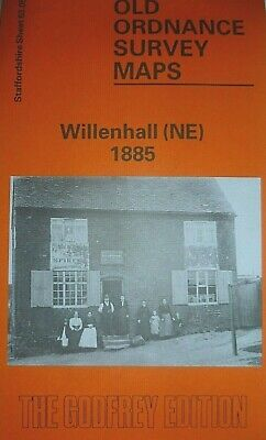 Old Ordnance Survey Maps Willenhall NE Staffordshire 1885 Godfrey Edition New