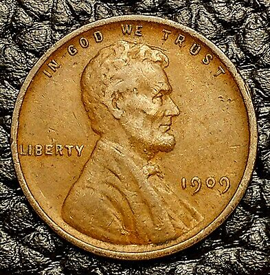 1909-P Lincoln Wheat Cent in Very Fine (VF) Condition ~ $20 ORDERS SHIP FREE!
