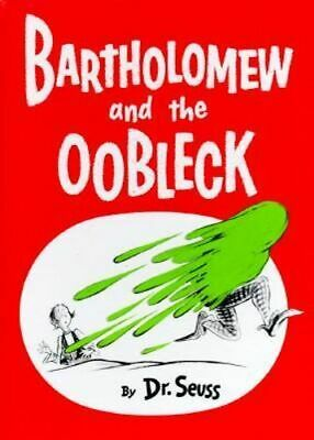 NEW Bartholomew And The Oobleck By Seuss Hardcover Free Shipping