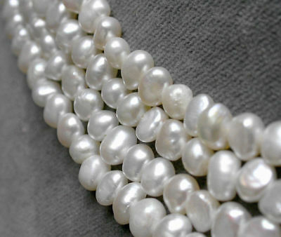Wholesale White 7-8mm baroque nugget freshwater pearl loose beads 14.5 inches AA