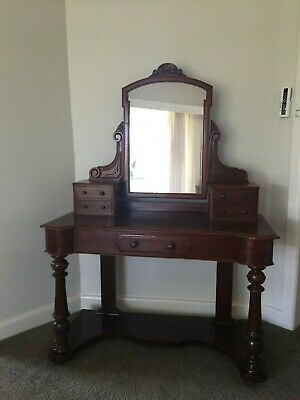 Beautiful Antique Victorian Mahogany Dressing Table / Hall Stand!