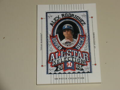 2003 Upper Deck Patch Collection All Star Collection #121 Alex Rodriguez