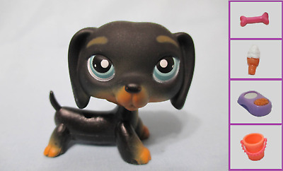 Littlest Pet Shop Puppy Dog Dachshund 325 Free Accessory Authentic Lps