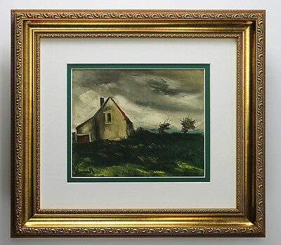 """Magnificent 1958 Maurice VLAMINCK SIGNED Lithograph """"Old Farmhouse"""" Framed COA"""