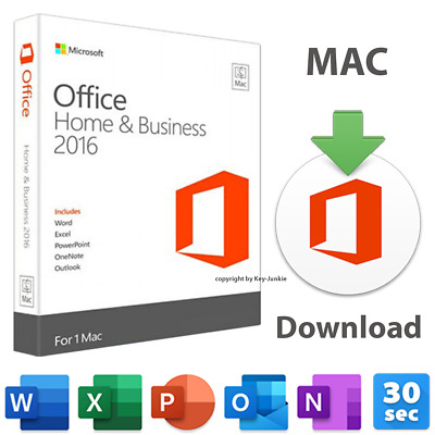 Office Home & Business 2016 Microsoft Corporation 1x Mac ML Download lifetime