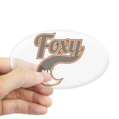 Euro Oval Car Decal 606927347 CafePress Foxy Oval Bumper Sticker