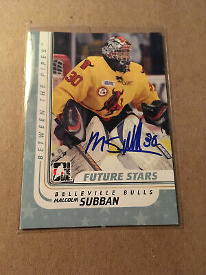 Malcolm Subban SIGNED 10/11 BTP BETWEEN THE PIPES card #25 VEGAS GOLDEN KNIGHTS
