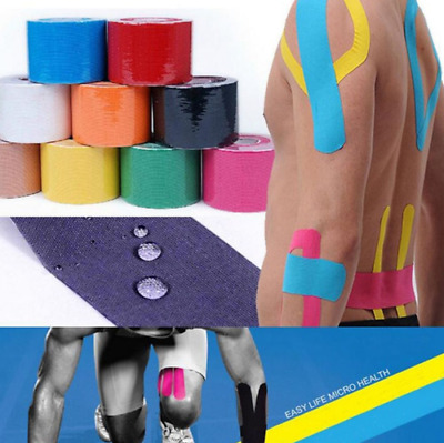 1 Roll Kinesiology Sports Tape Athletic Muscles Care Elastic Physio Therapeutic