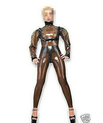 Latex Rubber Gummi Bodysuit Coffee Kostüm Ganzanzug Catsuit 0.4mm Men S-XXL