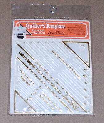 "1979 Yours Truly ""Right Angle Triangles"" Plastic Quilter's / Quilt Template NIP"