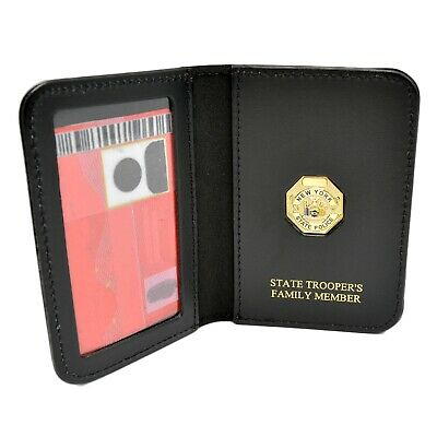 NYSP New York State Police Trooper Family Wallet ID Card Holder Document Case