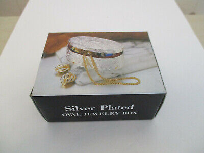 versilberte ovale Schmuckschatulle # Silver Plated  oval jewelry box #