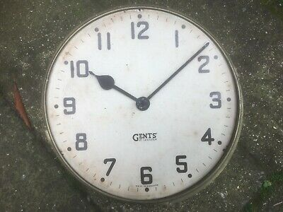 "Vintage Gents Of Leicester 12"" Clock Face,Bezel & Movement,Spares,Restore,Parts."