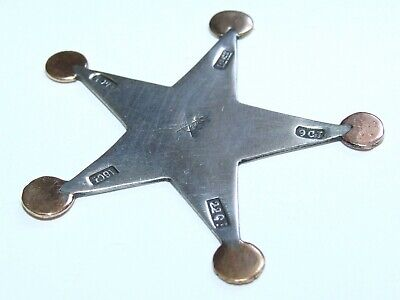 Very Rare, Antique c1890 Watchmaker / Jewellers Solid Gold Testing Star