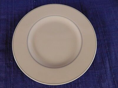 Pfaltzgraff Trousseau SALAD PLATE Gray Band -no flowers, have more items to set