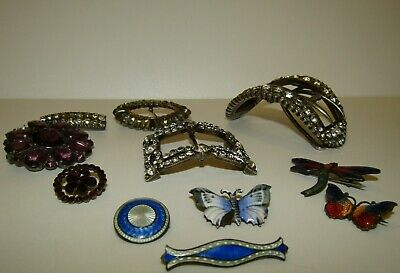 INTERESTING, ANTIQUE, GEORGIAN TO DECO 140g STERLING SILVER & GOLD JEWELLERY LOT