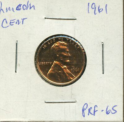 1961 1c Proof United States Lincoln Memorial Cent BH569